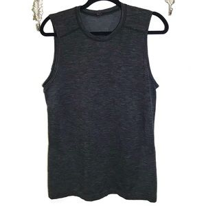 Men's heathered dark gray tank top